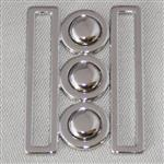 50mm nurse belt buckle – silver