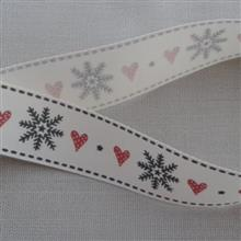 25mm snowflake and hearts