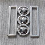 38mm nurse belt buckle – silver