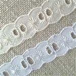 20mm insertion broiderie anglaise lace