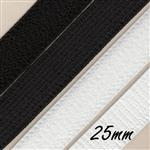 25mm plush back elastic
