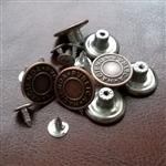17mm jeans button, hammer on