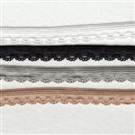 10mm lace edge lingerie elastic